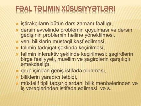 Dərsin ümumi quruluşu və mərhələləri - KURİKULUM