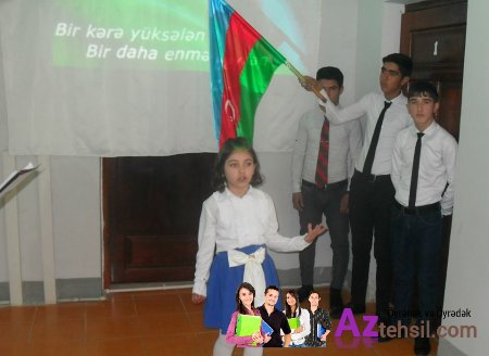 Ağstafa rayon ümumtəhsil müəssisələrində  Bayraq Günü geniş qeyd edilib