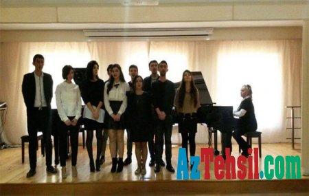 """ADPU-da """"Bizi tanıyın!"""" layihəsi çərçivəsində növbəti konsert proqramı"""