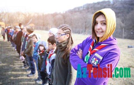 Göygöl məktəbliləri  tətil müddətində Şəmkir rayonunda təşkil olunan Skautların Yaz düşərgəsində iştirak edib