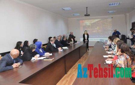 Ankara Universitetinin dosenti ADU-da mühazirə oxudu