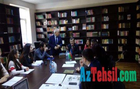 Milli Məclisin deputatı Aydın Mirzəzadə ADU-da oldu