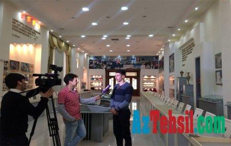 Xəzər TV-nin əməkdaşları ADPU-nun Heydər Əliyev Mərkəzində