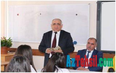 İbtidai təhsil fakültəsinin əməkdaşları Akif Abdullayev adına 211 nömrəli tam orta məktəbdə olublar