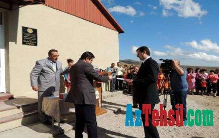 Amerika şirkəti Laçının Qarakeçdi kəndində məktəb təmir edib -Fotolar/Video