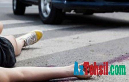 """Nizami rayonu ərazisində Şagirdi """"BMW"""" vurub öldürdü"""