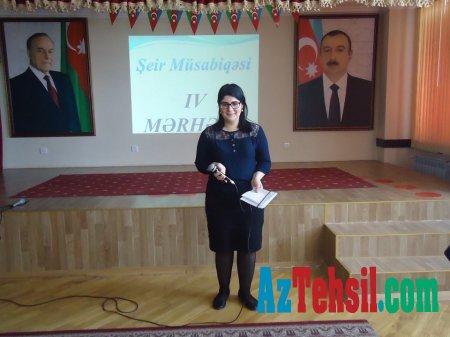 Məktəbdə bədii qiraət müsabiqəsinin sonuncu-final mərhələsi keçirildi