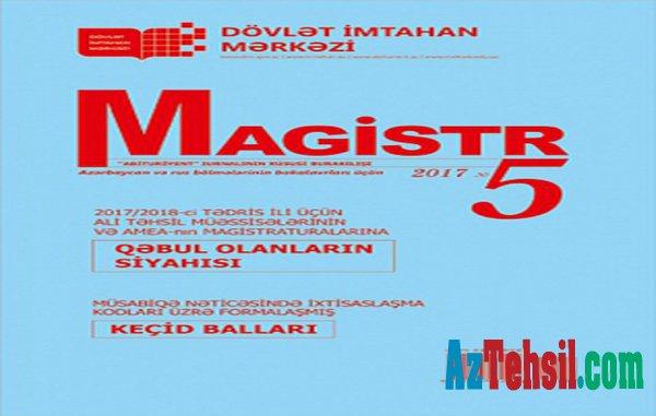 """""""Magistr"""" jurnalının beşinci nömrəsi çapdan çıxıb"""