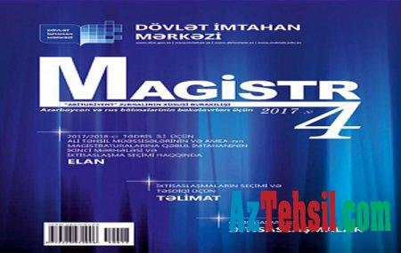 DİM «Magistr» jurnalının 4-cü nömrəsini nəşr edib