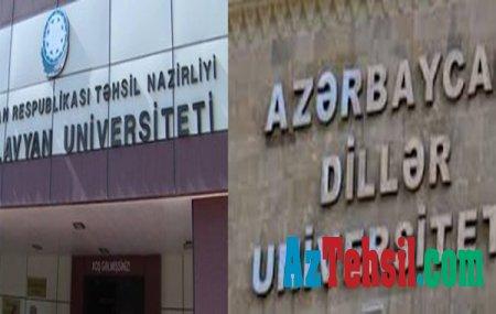 Dillər Universiteti ilə Bakı Slavyan Universiteti birləşdiriləcək?-iddialar