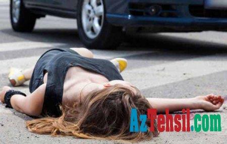 Gəncədə müğənni sürücü yarışdı və piyada müəlliməni vurub öldürdüFOTO/VİDEO(18+şəkil)DƏHŞƏT
