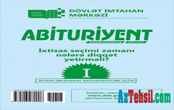 I ixtisas qrupu üçün abituriyent jurnalı satışda!