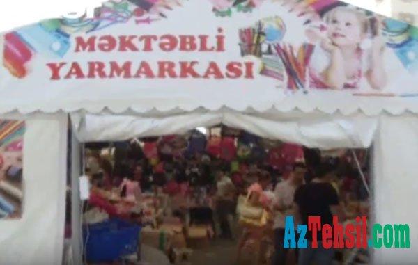 Məktəbli ləvazimatlarının satıldığı yarmarkalarla mağazalar arasında qiymət fərqi - Video