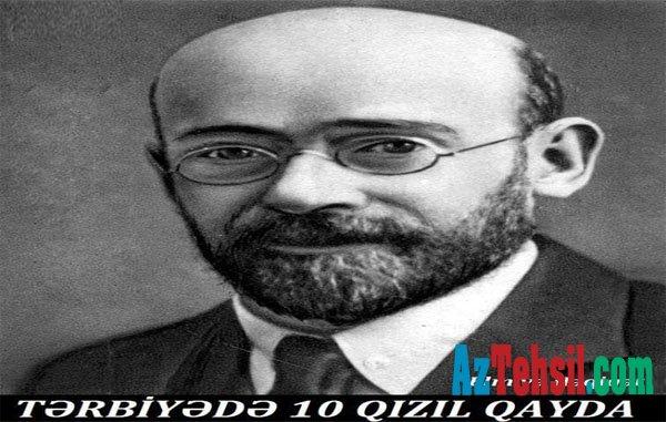 TƏRBİYƏDƏ 10 QIZIL QAYDA