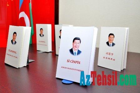 Universitetdə Çin lideri ilə bağlı kitab təqdim olundu