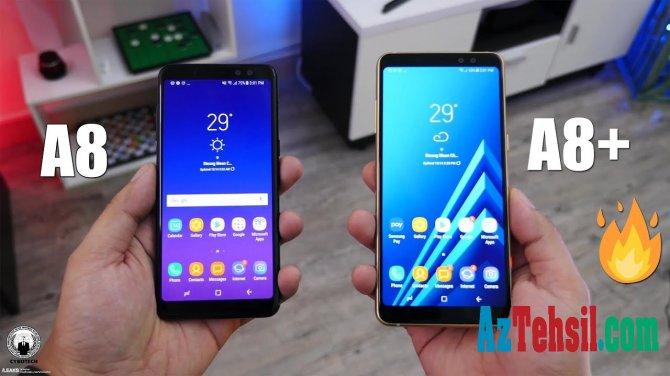 """""""Samsung"""" """"Galaxy A8"""" və A8+ smartfonlarını təqdim etdi"""