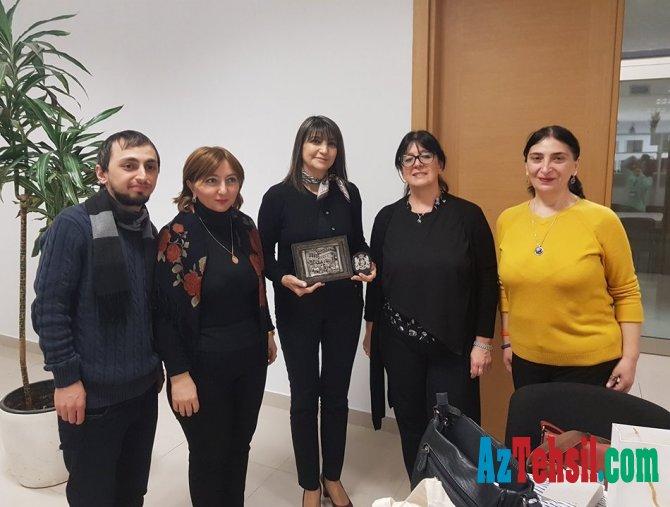 Gürcüstan Tbilisi Dövlət Universiteti Milli Elmi Kitabxanasının təmsilçiləri AMEA Mərkəzi Elmi Kitabxanasını ziyarət ediblər