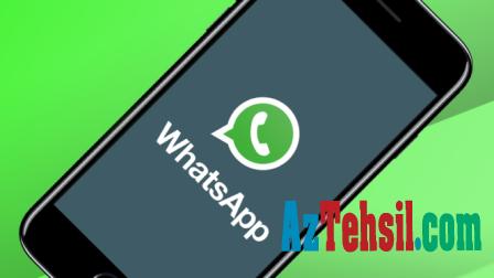 """""""Whatsapp""""da YENİLİK - Artıq özünüz..."""