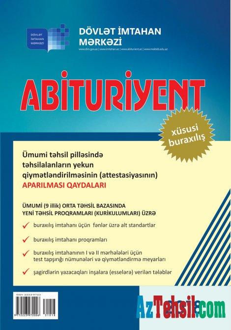 """""""Abituriyent"""" jurnalının xüsusi buraxılışı- 9-cular oxusun"""