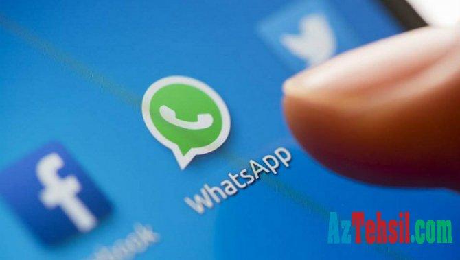 """""""WhatsApp""""da yeni funksiya -DANIŞIQ ZAMANI..."""