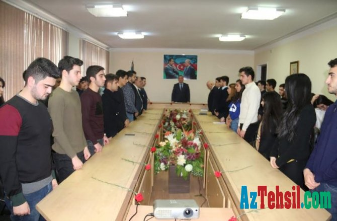Kooperasiya Universitetində 20 Yanvar şəhidləri anıldı