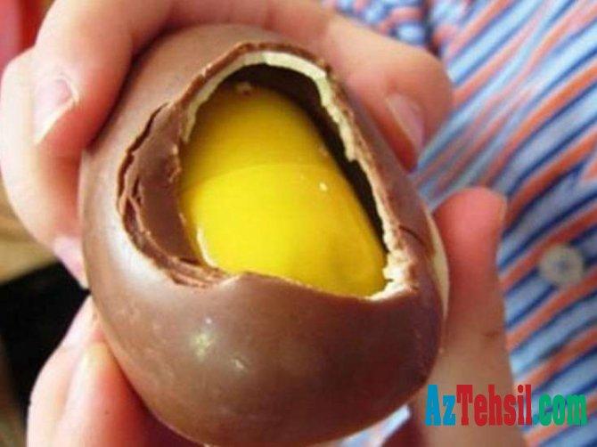 Sürpriz yumurtadan çıxan oyuncaq valideyni dəhşətə gətirdi - FOTO