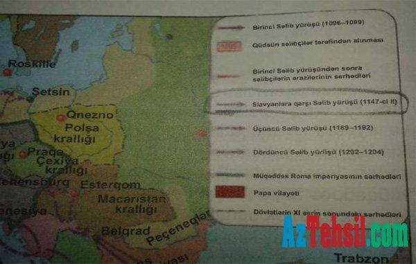 Orta məktəb müəllimi tarix dərsliyindəki səhvdən ŞİKAYƏT ETDİ - FOTOLAR   +