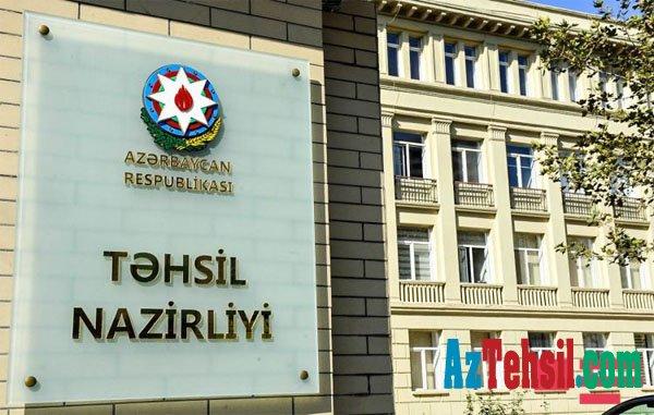 Təhsil Nazirliyindən QƏRAR -