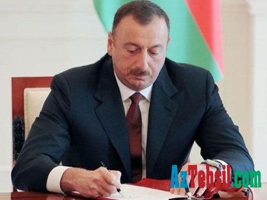 Prezident təhsil infrastrukturunun inkişafı ilə əlaqədar sərəncam imzalayıb