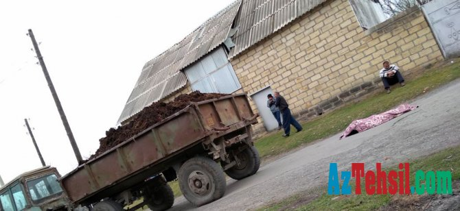 Məktəbdən çıxan şagirdi traktor vurub öldürdü - FOTO
