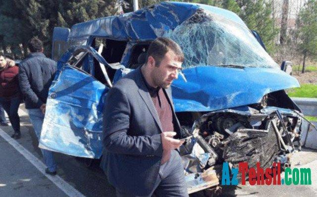 Şagirdləri qəzaya salan sürücü həbs edildi – Direktor müavinindən açıqlama