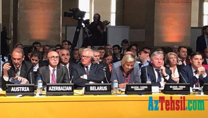 Nazir müavini Beynəlxalq konfransda iştirak etmək üçün Parisə gedib