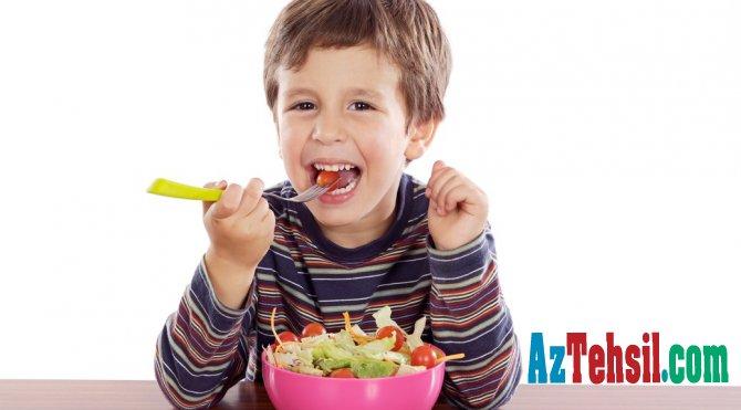 Uşaqların zehni inkişafı üçün faydalı qidalar