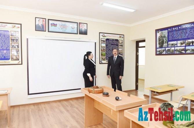Prezident 227 saylı tam orta məktəbin açılışını etdi - FOTOLAR