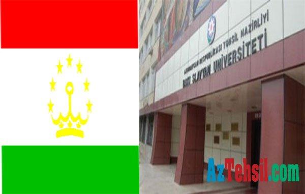 Tacikistan səfiri BSU-da olub...
