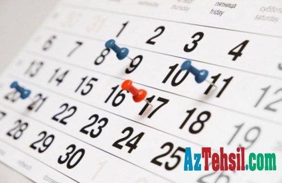 2019-cu ilin ilk yarısında keçiriləcək bəzi imtahanların tarixləri - TƏQVİM