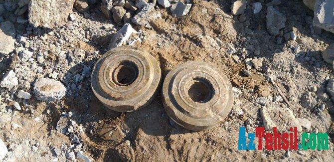 Orta məktəbin həyətində 2 ədəd tank əleyhinə mina aşkarlandı