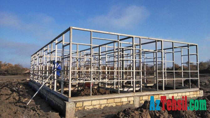 İmişlidə modul tipli məktəb binası quraşdırılır