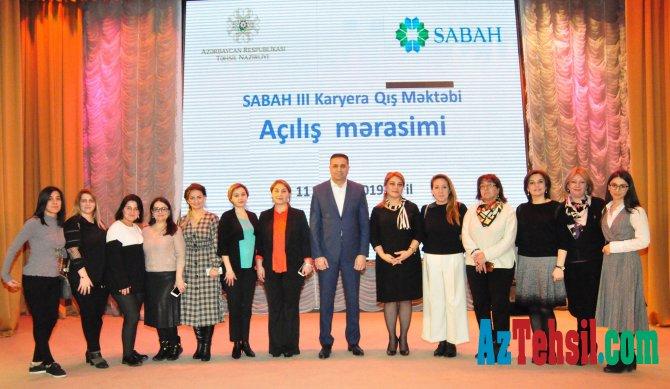 SABAH III Karyera Qış Məktəbinin iştirakçıları ilə görüş