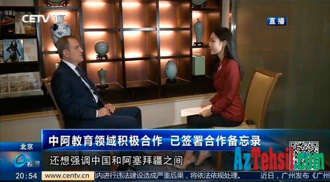 Təhsil nazirinin Çin televiziyasına müsahibəsi