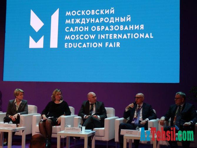 Nazir müavini Moskva Beynəlxalq Təhsil Salonunda çıxış edib