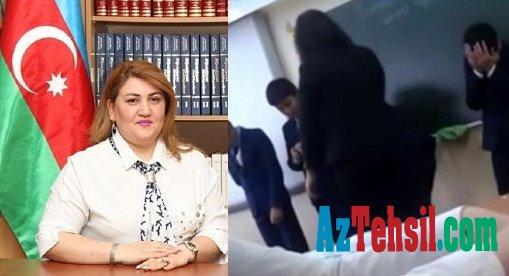 Bakıda müəllimə şagirdi döyüb,videoya çəkdi - Həmin görüntülər