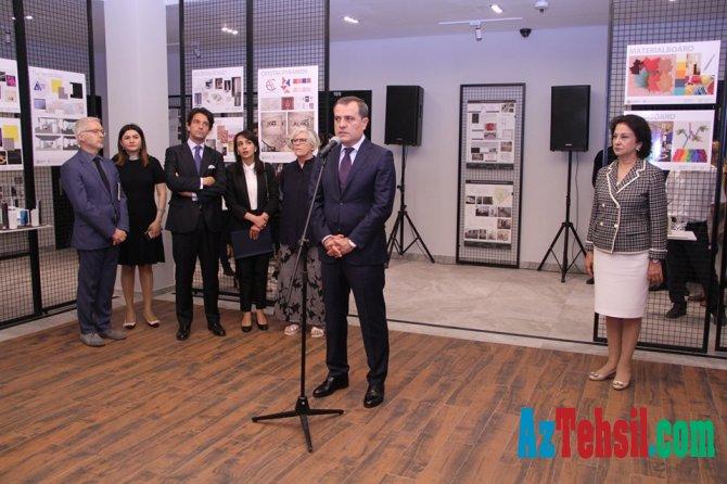 Təhsil naziri İtaliya – Azərbaycan Dizayn Mərkəzinin açılışında