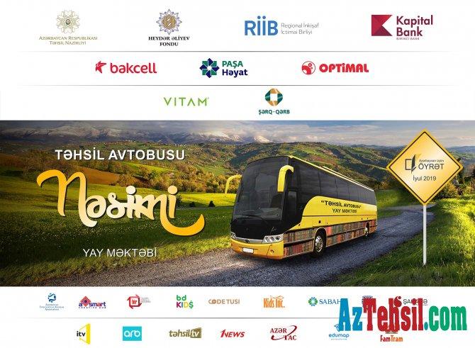 """""""Təhsil avtobusu - Nəsimi"""" yay məktəbi"""