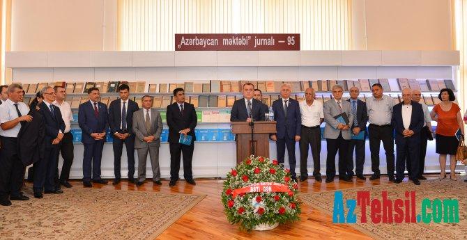 """""""Azərbaycan məktəbi"""" jurnalının 95 illik yubiley tədbiri"""