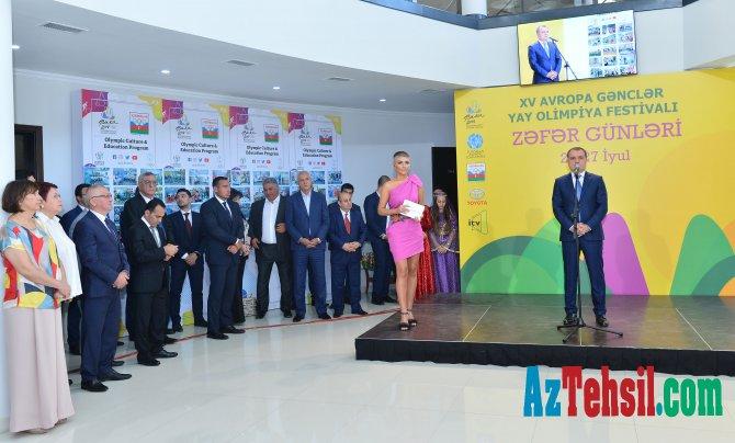 XV Avropa Gənclər Olimpiya Festivalında uğur qazanan idmançılarımızla Milli Olimpiya Komitəsində görüş keçirilib