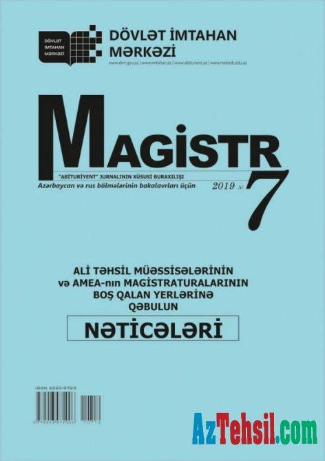 """""""Magistr"""" jurnalının 7-ci nömrəsi nəşr olunub"""