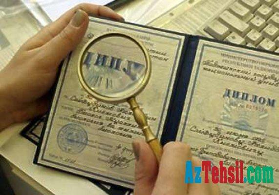 Diplomların tanınması üçün lazım olan bu sənədlər mütləq notarial qaydada  təsdiqlənməlidir-Siyahı