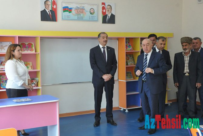 İmişlidə yeni məktəb binalarının açılışı olub
