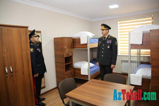 Nazir hərbi məktəbin açılışına qatıldı